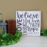 Wall Plaque | Live - Hope - Dream