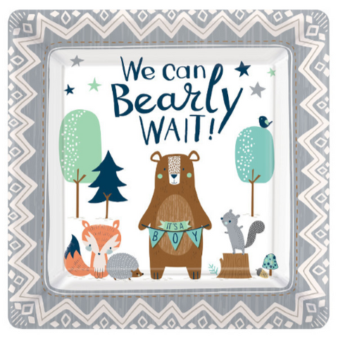"8 Count | 10"" Bearly Wait Paper Plates"