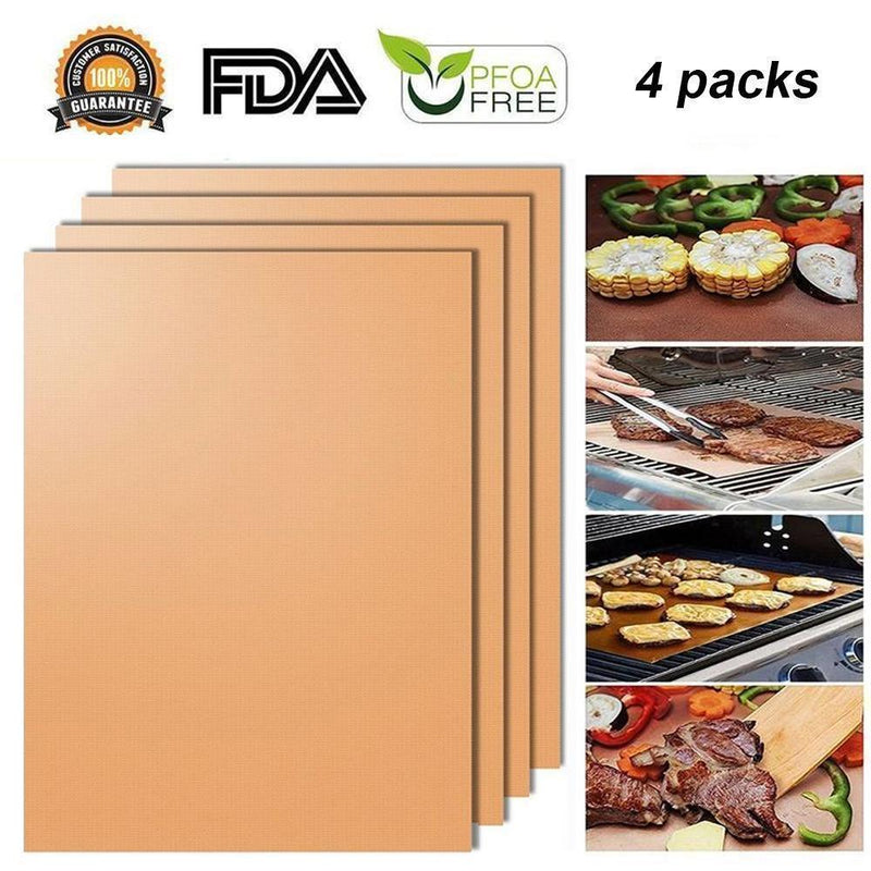 Non-stick BBQ Baking Mats, 4 pcs
