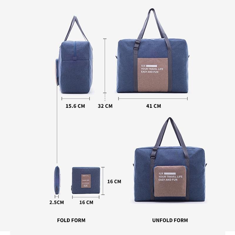 Portable collapsible large-capacity travel bag