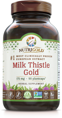 Milk Thistle Gold - 175 mg (#1 Most clinically proven)  90 Vcaps