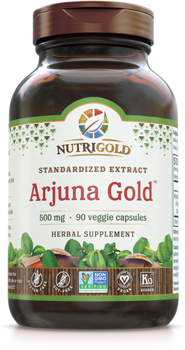 Arjuna Gold 500 mg (High 35% Tannins) 90 Veggie Caps
