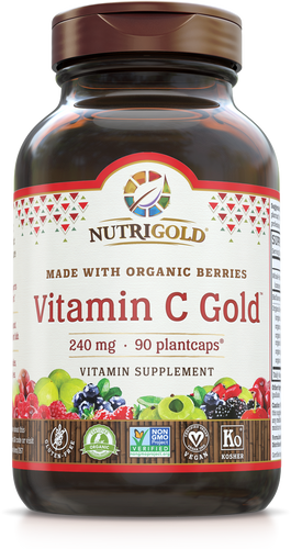 Vitamin C Gold 240mg (Organic, Whole-food) 90 Vegan Capsules