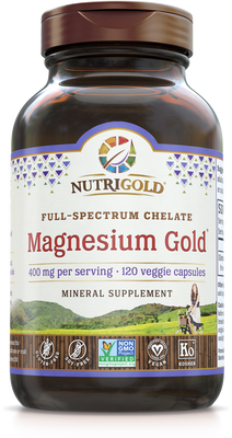 Magnesium Gold (Full-Spectrum Chelate) 400mg 120 VCaps