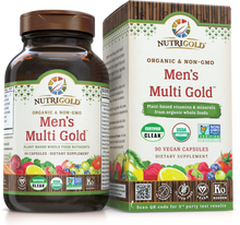 Men's Multi Gold Vitamin (Organic, Whole-food, Plant-based) 90 VCaps