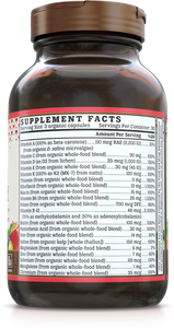 Women's Multi Gold Vitamin (Organic, Whole-food, Plant-based) 90 VCaps