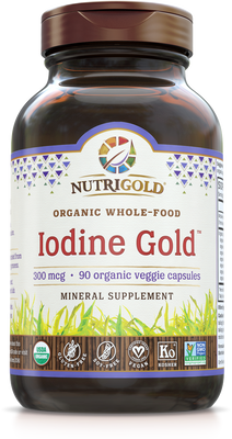 Iodine Gold - 300 mcg (Organic, Whole-food, Plant-based) 90 VCaps