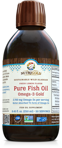 Pure Fish Oil Omega-3 Gold 250mL Bottle