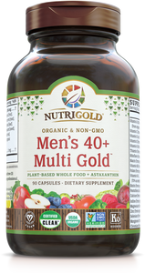 Men's 40+ Multi Vitamin (Organic, Whole-food, Plant-based) 90 VCaps