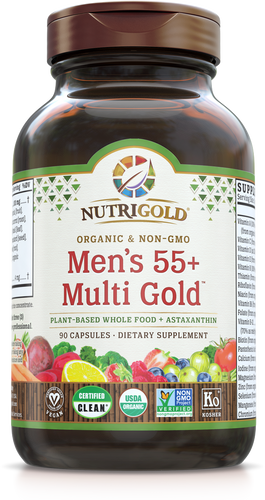 Men's 55+ Multi Vitamin (Organic, Whole-food, Plant-based) 90 VCaps