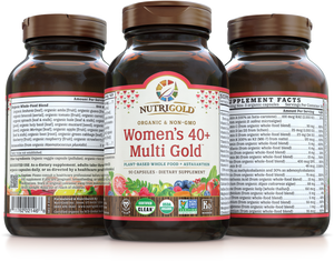 Women's 40+ Multi Vitamin (Organic, Whole-food, Plant-based) 90 VCaps