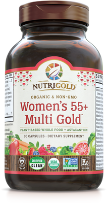 Women's 55+ Multi Vitamin (Organic, Whole-food, Plant-based) 90 VCaps