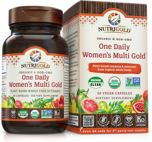 One Daily Women's Multi Vitamin (Organic, Whole-food, Plant-based) 30 VCaps