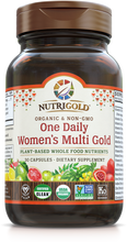 Women's One Daily Multi Vitamin (Organic, Whole-food, Plant-based) 30 VCaps