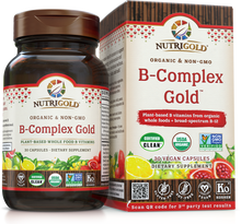 Vitamin B-Complex Gold (Organic, Whole-food, Plant-based) 60 Vcaps