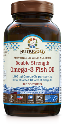Double Strength Omega-3 Fish Oil 120 Softgels