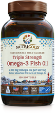 Triple Strength Omega-3 Fish Oil 120 Softgels