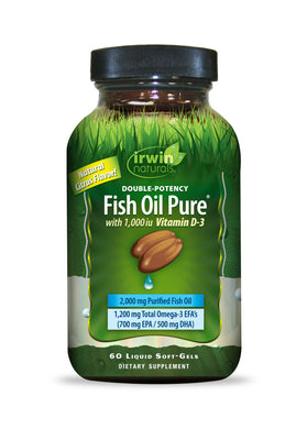 Double-Potency Fish Oil Pure® 60 Liquid Soft-Gels