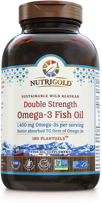 Double Strength Omega-3 Fish Oil 180 Softgels