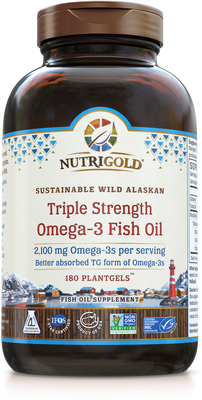 Triple Strength Omega-3 Fish Oil 180 Softgels