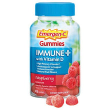 Emergen-C Immune+ Gummies with Vitamin D, 45 Count Bottle