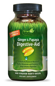 Ginger & Papaya Digestive-Aid™ 60 Liquid Soft-Gels
