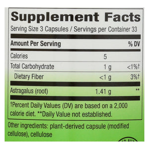 Nature's Way Astragalus Root - 470 Mg - 100 Capsules