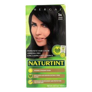 Naturtint Hair Color - Permanent - 1n - Ebony Black - 5.28 Oz