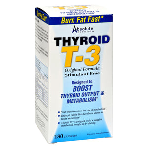 Absolute Nutrition - Thyroid T-3 - 180 Capsules