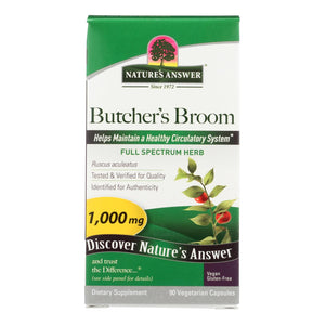 Nature's Answer - Butcher's Broom Root - 90 Vegetarian Capsules