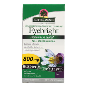 Nature's Answer - Eyebright Herb - 90 Vegetarian Capsules
