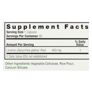 Nature's Answer Licorice Root - 90 Vegetarian Capsules