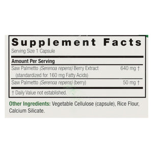 Nature's Answer - Saw Palmetto Berry Extract - 120 Vcaps