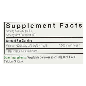Nature's Answer Valerian Root - 180 Vegetarian Capsules