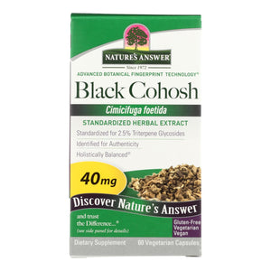 Nature's Answer - Black Cohosh Root Extract - 60 Vegetarian Capsules