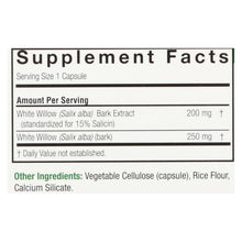 Nature's Answer White Willow Bark Standardized - 60 Vcaps