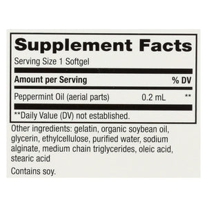 Nature's Way Pepogest Peppermint Oil - 60 Softgels