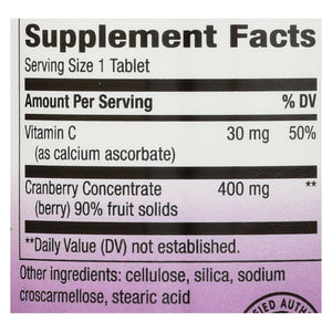 Nature's Way - Standardized Cranberry - 60 Tablets