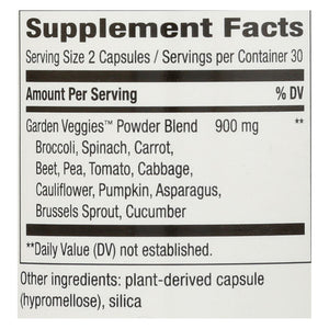 Nature's Way Garden Veggies - 60 Vegetarian Capsules