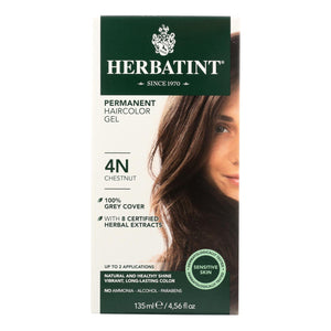 Herbatint Permanent Herbal Haircolour Gel 4n Chestnut - 135 Ml