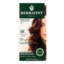 Herbatint Permanent Herbal Haircolour Gel 5r Light Copper Chestnut - 135 Ml