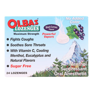 Olbas - Lozenges Sugar-free Black Currant - 24 Lozenges - Case Of 12