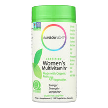 Rainbow Light Certified Organics Women's Multivitamin - 120 Vegetarian Capsules