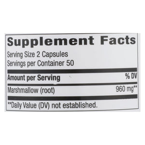 Nature's Way - Marshmallow Root - 100 Capsules