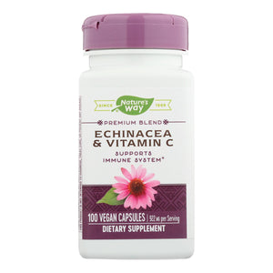 Nature's Way - Echinacea And Vitamin C - 492 Mg - 100 Capsules
