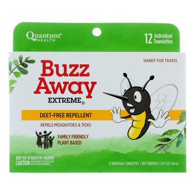 Quantum Research Buzz Away Towelettes - 12 Pack