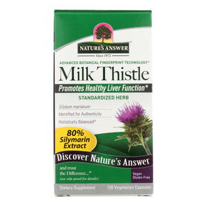 Nature's Answer - Milk Thistle Seed Extract - 120 Vegetarian Capsules