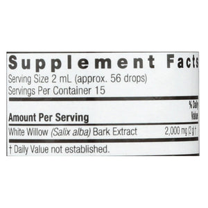 Nature's Answer - White Willow Bark Alcohol Free - 1 Fl Oz