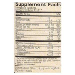 Nutrex Hawaii Pure Hawaiian Spirulina Pacifica - 500 Mg - 100 Tablets