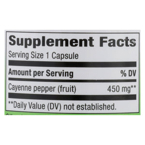 Nature's Way - Cayenne And Pepper - 450 Mg - 100 Capsules
